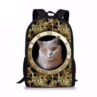 School Bag Cute 3D Cat Animal Print Backpacks for Children Boys Girls Casual Kids School Bags Mochila Travel Rucksack New