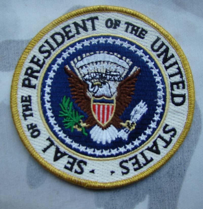 Parche bordado táctico del sello presidencial del presidente de EE. UU.-tienda militar mundial