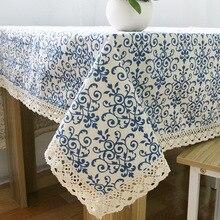 Mantel cuadrado clásico de tamaño múltiple, mantel Rectangular para cocina, mantel para mesa de comedor, decoración de algodón para el hogar, mantel de mesa de lino