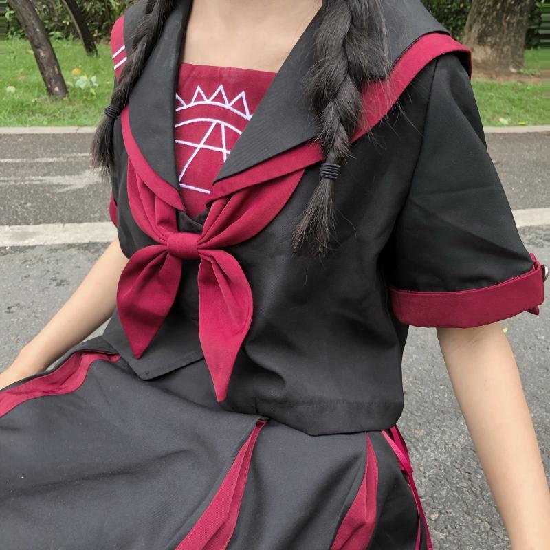Летние рубашки для женщин с матросским воротником, Волшебная вышивка, свободный короткий топ, блузка, Новая модная Милая Одежда для девочек