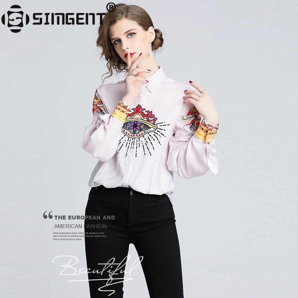 Nueva camisa Simgent de primavera para Mujer, elegante, con lazo para oficina, con estampado de Animal, para Mujer, ropa de Mujer, Blusas únicas para Mujer SG811072