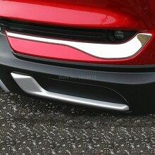 For Mazda CX-5 CX5 KF 2017 2018 2019 Chrome Front Bottom Fog Lamp Light Foglight Eyelid Bumper Molding Trim Exterior Accessories