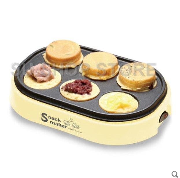 electric eggs roasted hamburger machine Red beans cake pie Maker MINI breakfast pancake baking crepe Fried Egg frying pan недорого