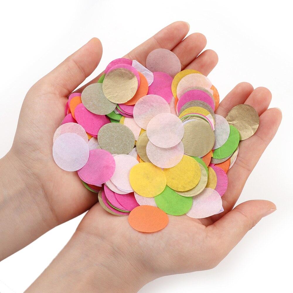 1000 Uds mixto papel tisú de Color confeti para fiesta de boda a suministros de papel Artificial de chatarra globo de accesorios