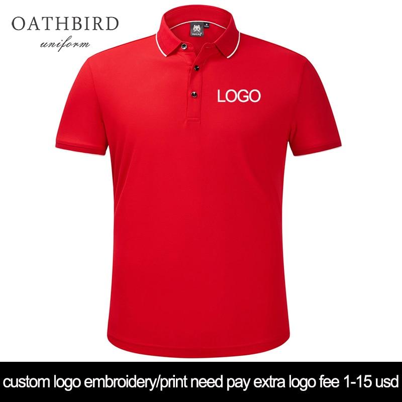 custom logo embroidery polo shirt uniform office work wear printing text staff unfiroms