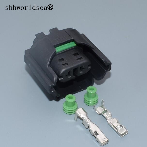 Shhworldsea 2 PIN conector macho Pigta para escarabajo VW Caddy Golf Jetta Passat AUDI A4 A6 para Skoda Octavia para asiento de Toledo