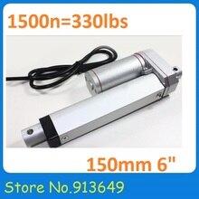 Actionneur linéaire électrique 12 v 150mm (6 ) course 1500N DC moteur contrôleur de mouvement linéaire avec Switch-1PC limite