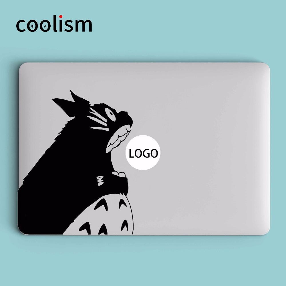 Adesivo para Apple Comer Greedy Totoro Anime Laptop Macbook Decalque ar 13 Pro Retina 11 12 15 Polegada Mac Book Notebook Pele Adesivo