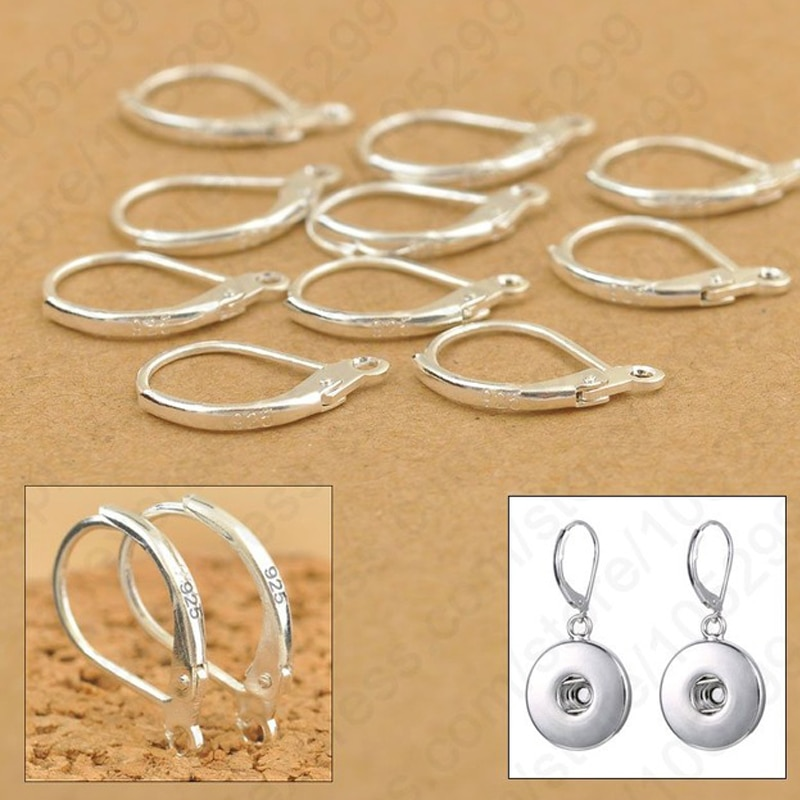 Комплектующие для украшений «сделай сам» 100 шт., серебряные комплектующие для бисероплетения, застежки-крючки для сережек «сделай сам», фит...