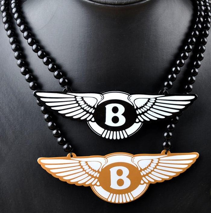 Новинка, хип-хоп Макси Bentley Motors ожерелье, мужская длинная цепь с бусами, подвеска в рок-стиле, мужские ювелирные изделия, подарок парню