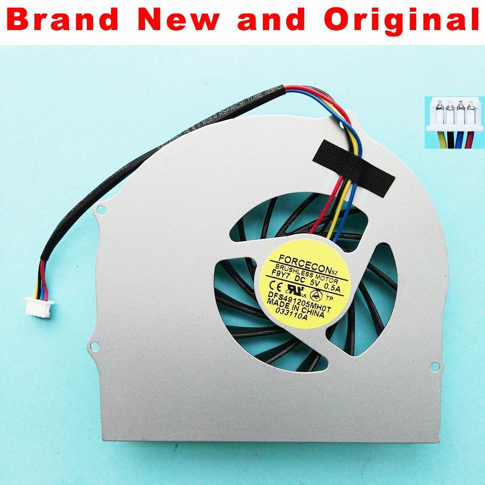 Новый оригинальный вентилятор процессора для Asus G60JX G51J G60 охлаждающий вентилятор для ноутбука DFS491205MH0T F9Y7