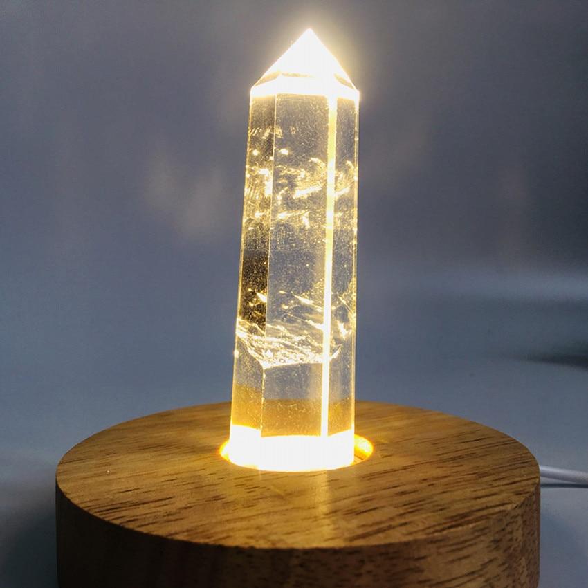 Baguette en cristal à quartz et oblistère   Cristaux clairs naturels de méditation et de guérison pour décoration de la maison comme cadeaux