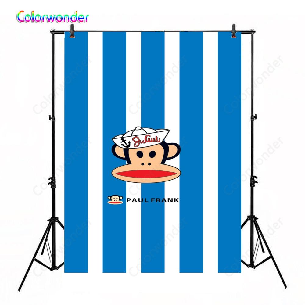 Fondos de fotografía azul y blanco rayas moda mono niños foto fondos estudio fotográfico fondos de pared