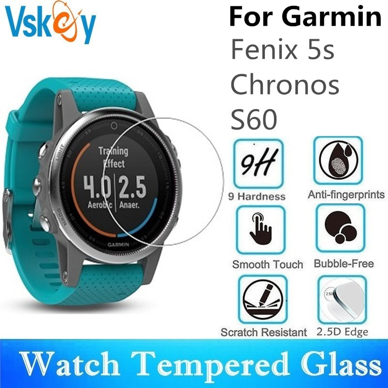 VSKEY 100 шт. закаленное стекло для Garmin Fenix 5S защита экрана Chronos S60 диаметр 35 мм спортивные Смарт-часы защитная пленка
