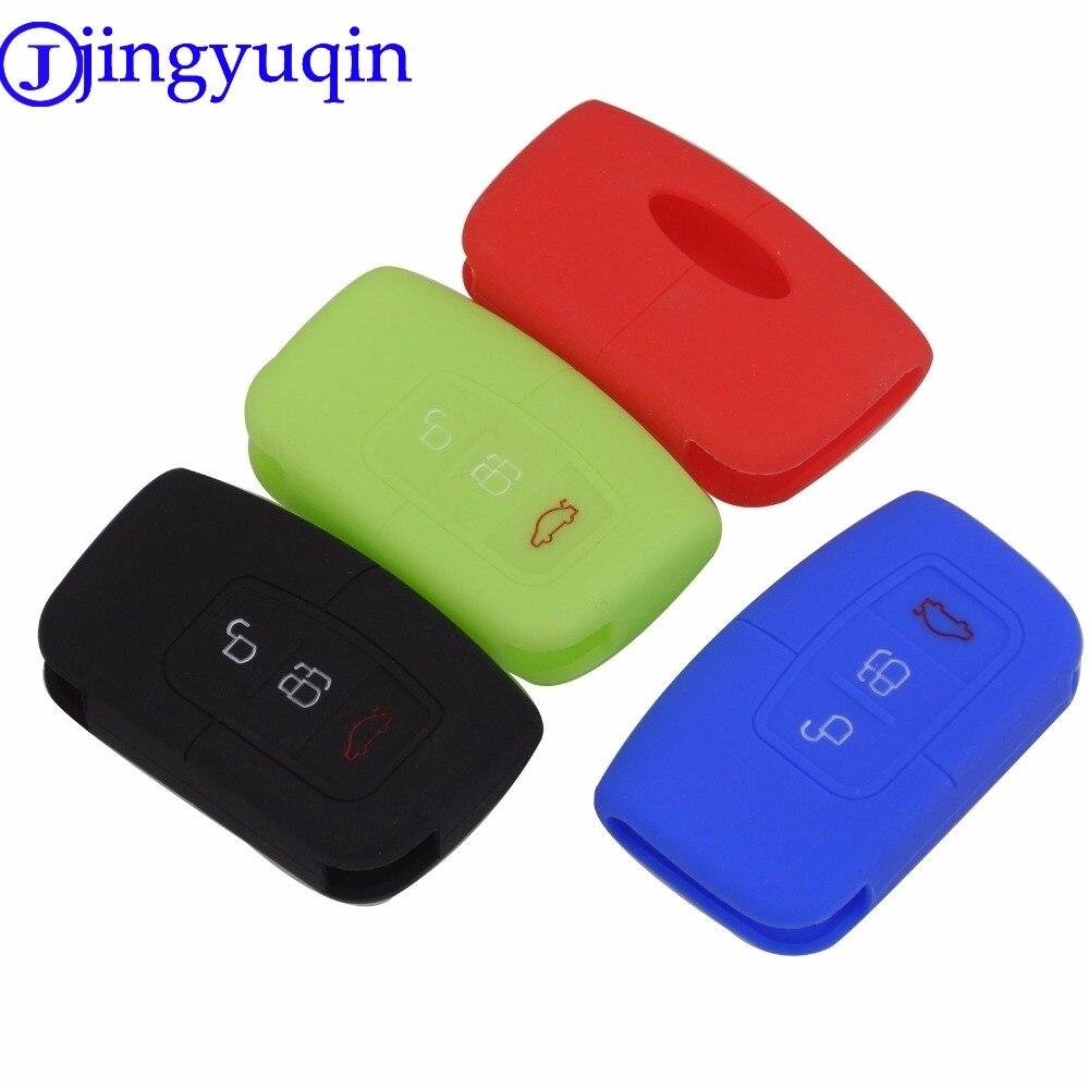 Jingyuqin 10ps Neue Ankunft 3 Tasten Remote Silikon Auto Fob Smart Schlüssel Fall Abdeckung Für Ford