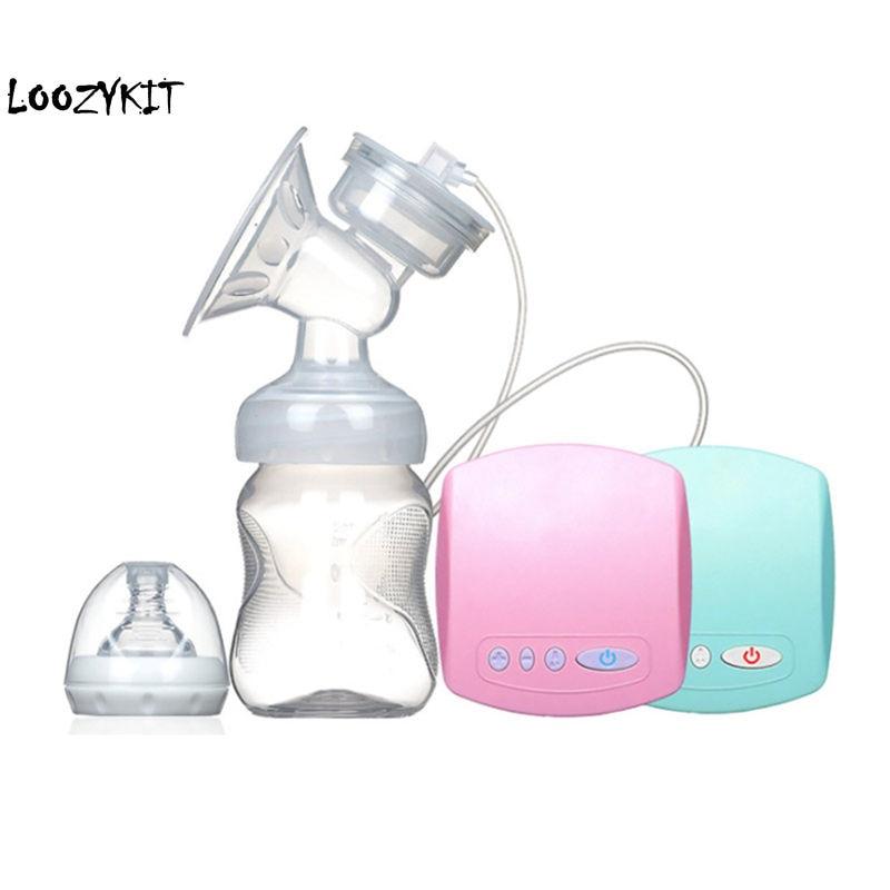 Loozykit inteligente bombas de mama elétrica automática mamilo sucção bomba leite amamentação segurança elétrica usb bomba de mama