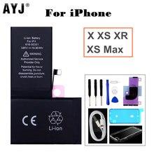 AYJ batterie de haute qualité pour iPhone X XS Max XR batterie intégrée de remplacement Kit doutils haute capacité