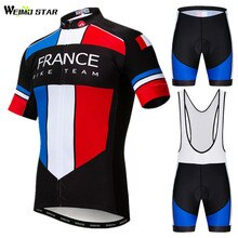 Weimostar Frace USA UK Team Cycling Clothing Summer Pro Cycling Jersey Set Men Mountain Bike Clothing Uniform Bicycle Wear Roupa