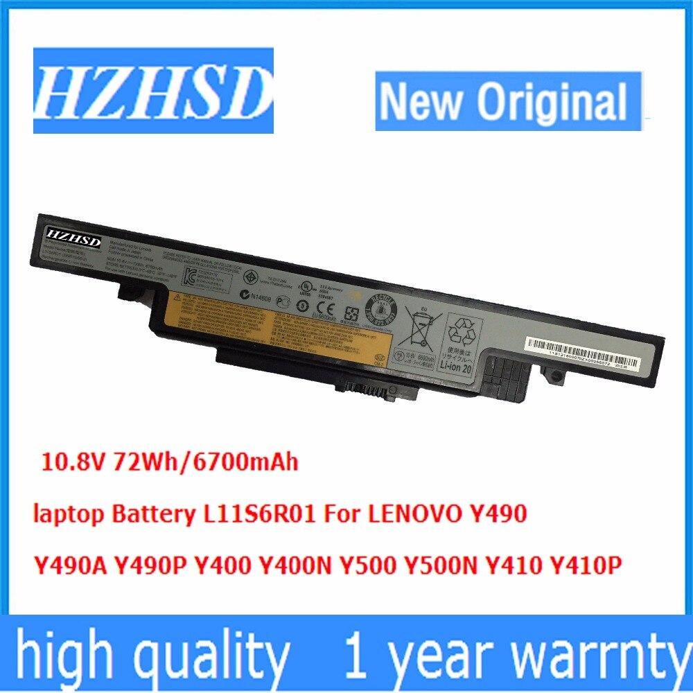 6700mAh 10.8V 72Wh جديد الأصلي بطارية كمبيوتر محمول L11S6R01 لينوفو Y490 Y490A Y490P Y400 Y400N Y500 Y500N Y410 Y410P