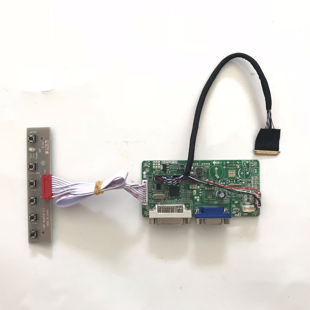 VGA DVI набор для платы ЖК-контроллер для Samsung X170 Lenovo U150 E125 Asus U24E Acer AS1551 B116XW02 LED 1366x768