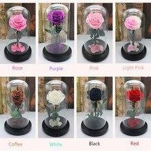 Forever Rose Bloem Feestelijke Bewaard Onsterfelijke Verse Rose In Glas Moeders Dag Gift 10 Kleuren Beschikbaar