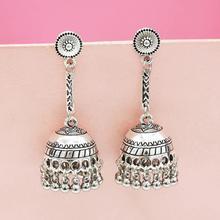 Egypt Turkish Classic kolczyki Women Alloy Bells Long Tassel Jhumka Earrings 2019 Bohemia Indian Drop Earring Oxidized Jewelry