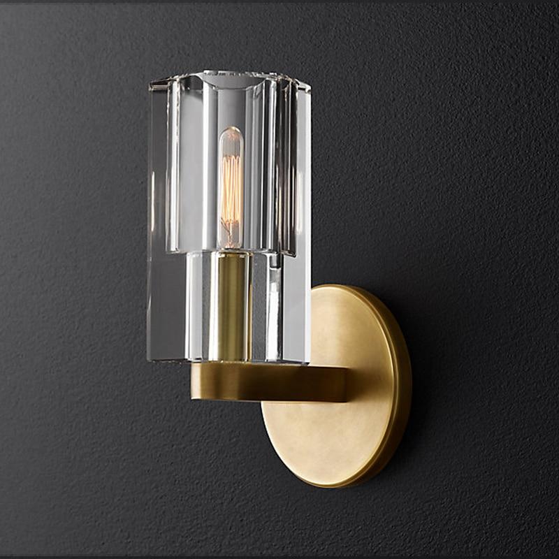 Lámpara Led G9 para Pared, aplique de 2 luces para pasarela, acabado dorado, lámpara de Pared de hierro forjado