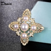 donia jewelry brand pearl wedding brooches fashion scarf pin jewelry for women party hijab accessory hats and bags jewelry