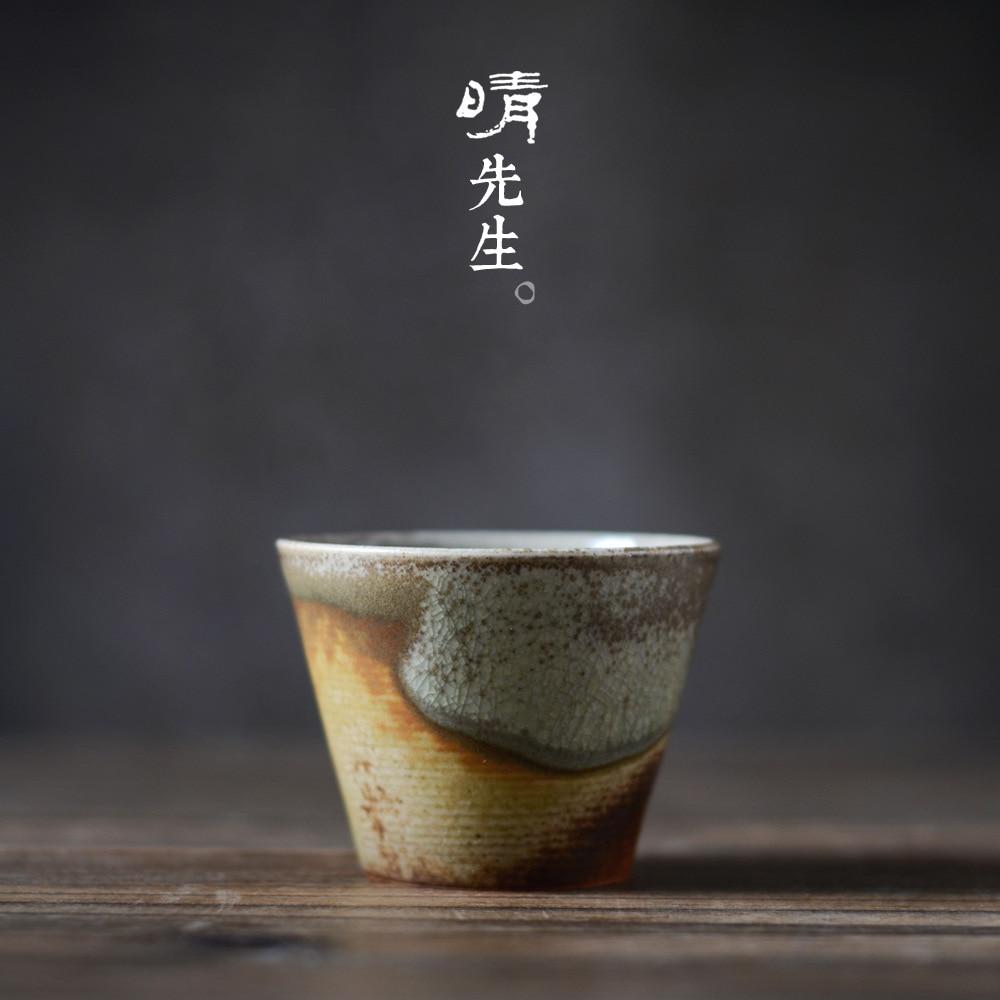 Jingdezhen tea cup, tea cup, retro Puer tea cup, antique tea cup, Japanese Zen Kung Fu tea set, tea cup ceramics
