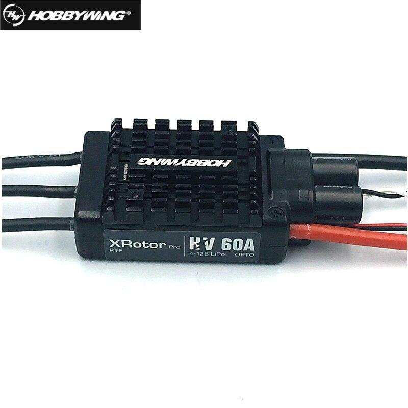 Controlador electrónico de velocidad Hobbywing XRotor serie Pro 60A HV sin escobillas ESC 4-12S para Dron multicópteros Rc