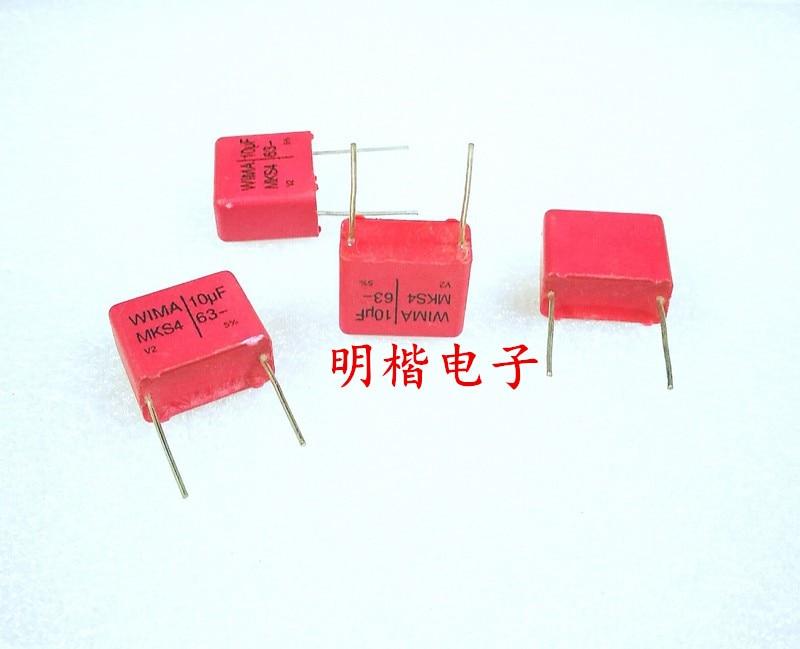 2019 hot sale 4pcs/10pcs Germany WIMA capacitor MKS4 63V 10UF 106 63V P: 15mm Audio capacitor free shipping