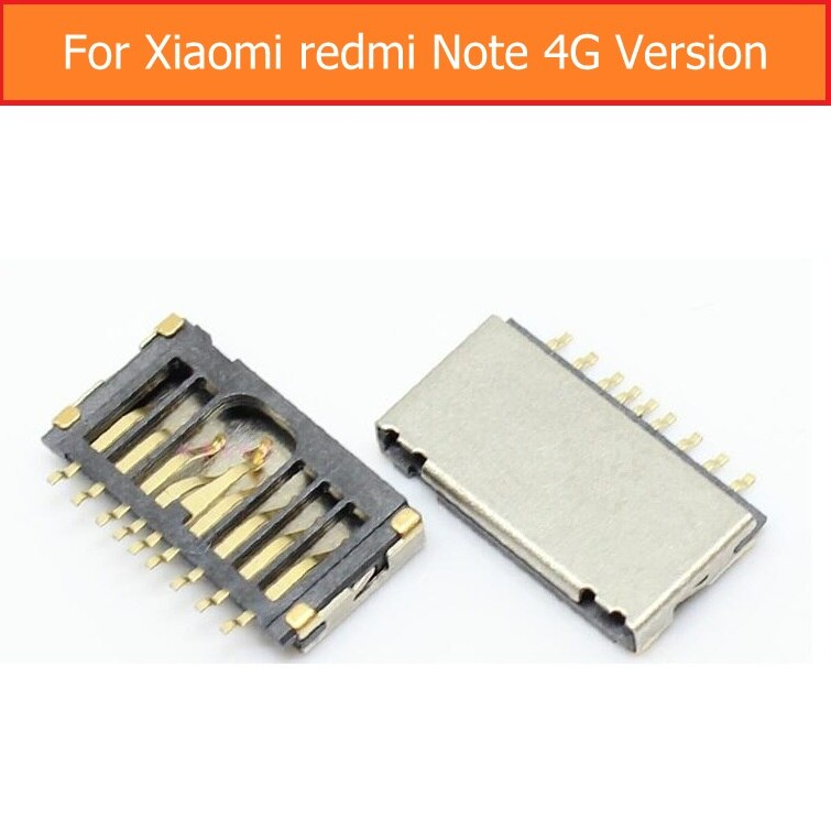 Conector de tarjeta de memoria genuino para Xiaomi redmi note 4g, ranura para tarjeta SD de memoria para Coolpad F1 8297, reemplazo de lector de tarjeta de memoria