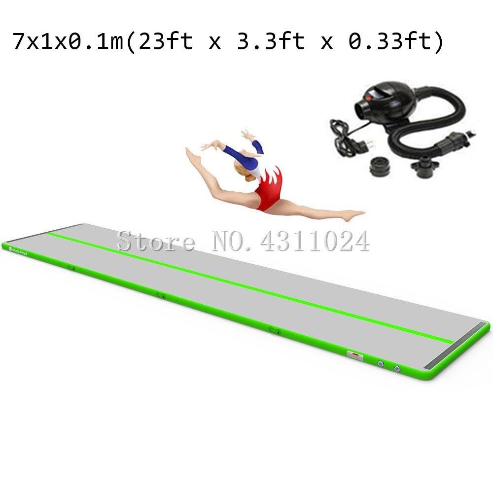 Free Shipping Inflatable Gymnastics Air Track Tumbling Mat Yoga Floor Cheerleading Landing Taekwondo Training Exercise Mat