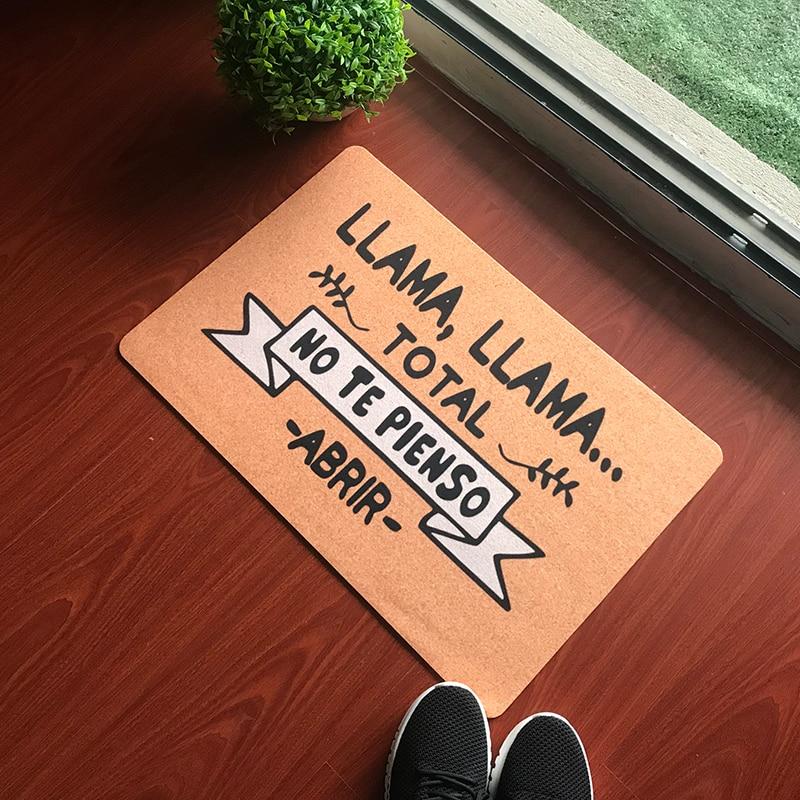 Anti-deslizamiento divertido español felpudo LLAMA TOTAL NO TE PIENSO ABRIR personalizado alfombra...