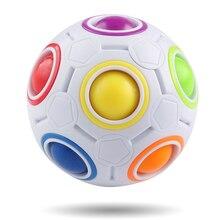 Boule magique de jouet de jeu de Puzzle de couleur de boule darc-en-ciel pour des enfants et des adultes, cadeau de noël de vacances