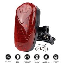 GPS Tracker Bike LED Light Mini GPS Tracker Anti-theft Voice Monitor Tracker Shock Alarm SOS Easy Hidden Bike GPS TKSTAR