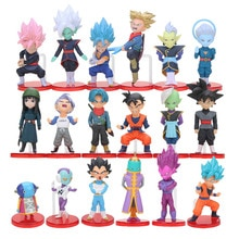 6 stks/set WCF Dragon Ball Z Super Saiyan Son Gohan Goku Goten Majin Buu Vegeta Jaco Zeno Zamasu Action Figure speelgoed Set Dragonball
