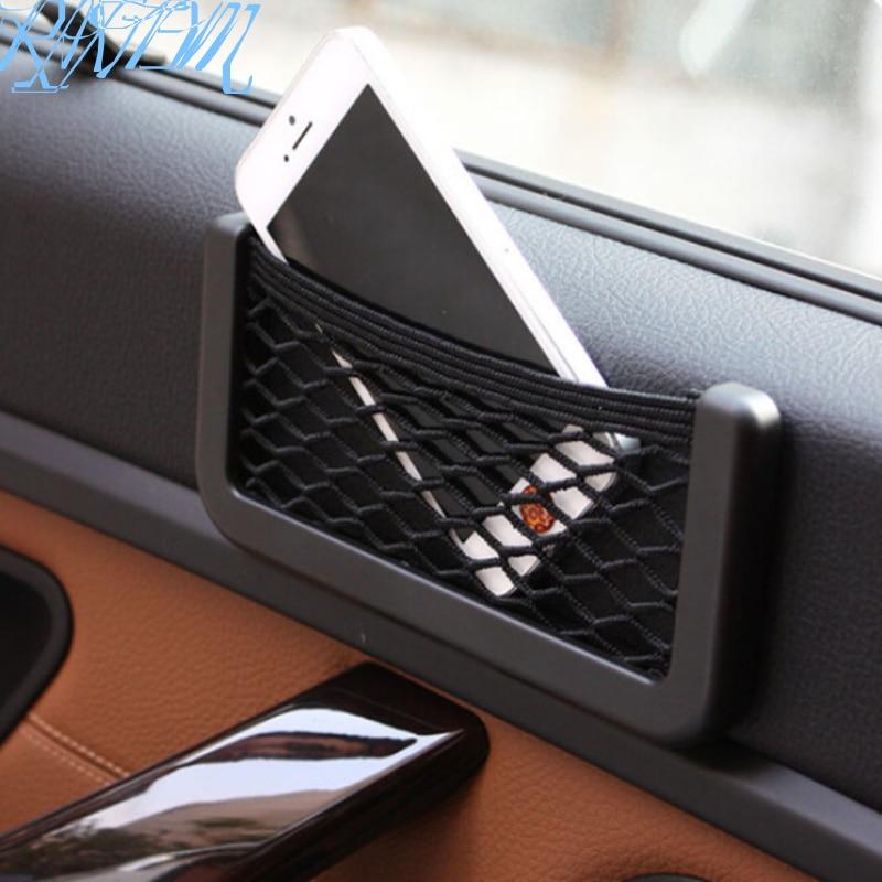 Universal lateral para asiento de coche a Bolsa de red de almacenamiento para BMW 1 3 4 5 7 Serie X1 X3 X4 X5 X6 E60 E90 F15 F30 F35