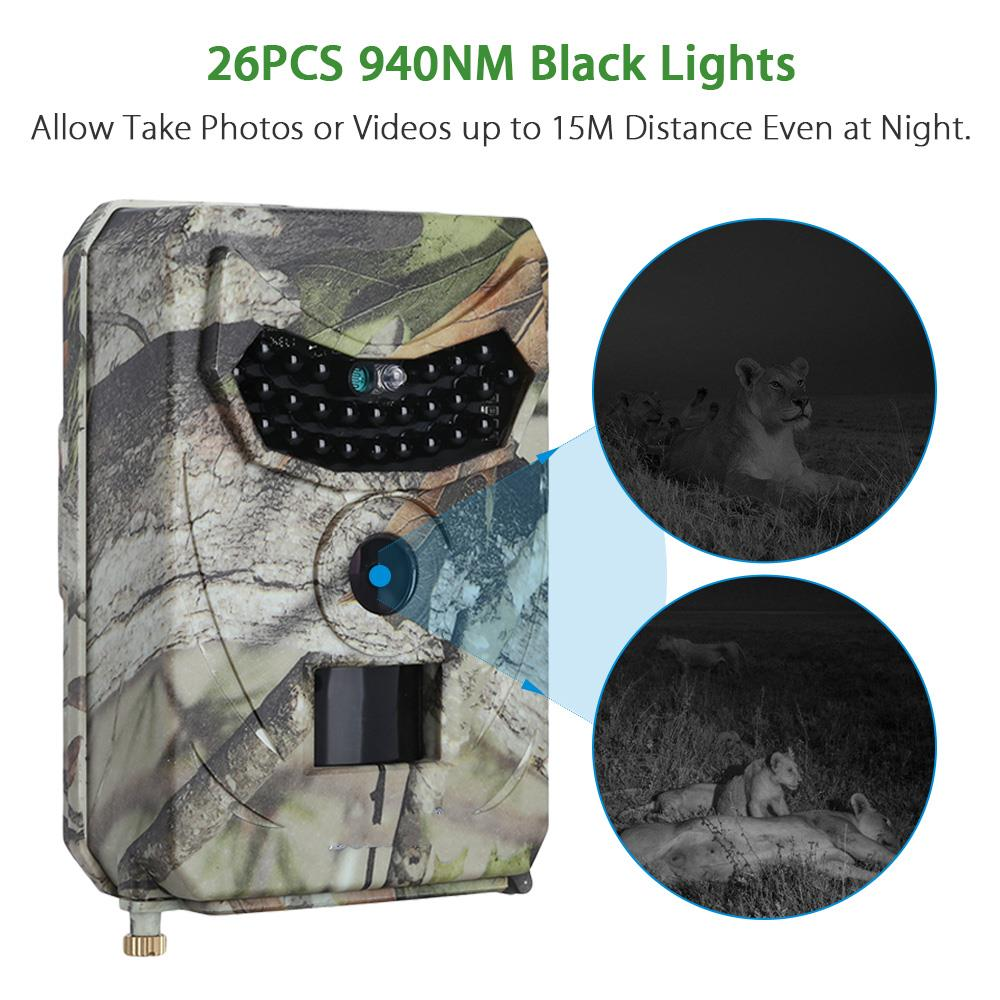 PR100 1080P cámara de caza detección de movimiento de gran angular 940NM PIR Sensor Scouting infrarrojo Wildlife Trail Cámara Trap