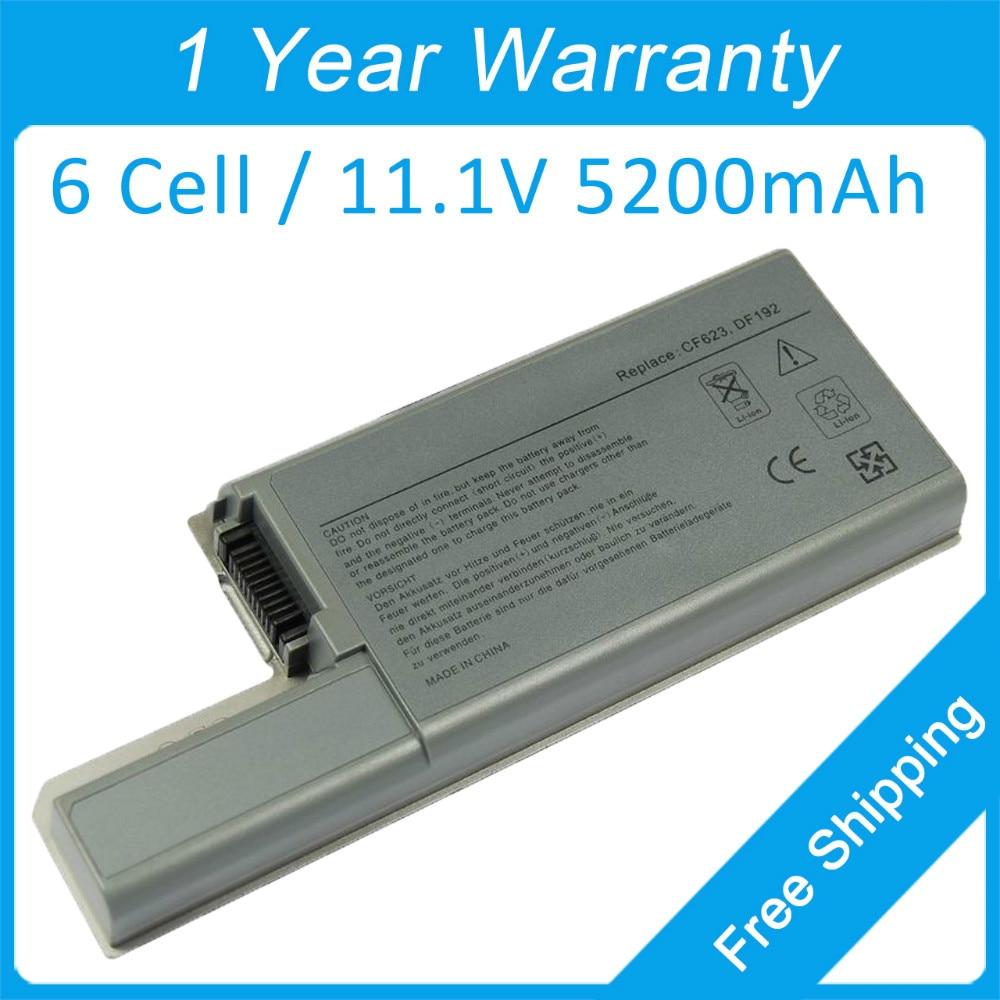 Nova bateria laptop 6 celular para dell Latitude D531 D820 D830 D531N TT721 WN791 WN979 YW652 0CF623 0CF704 JT784 MM160 312 - 0394