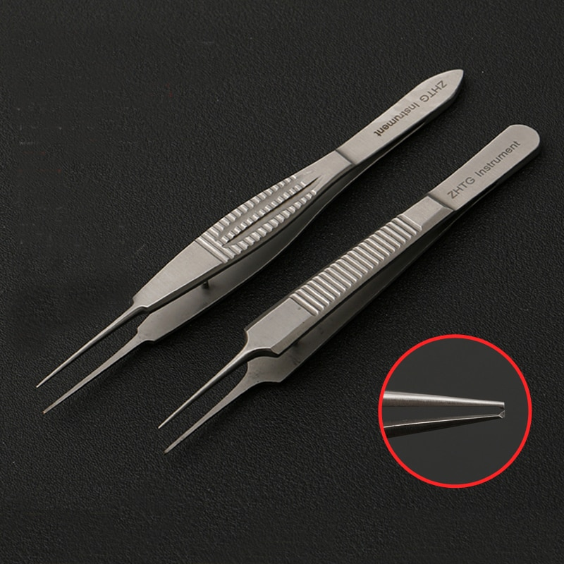 Tiangong plastic eyelid tweezers double eyelid surgery tool tooth / toothless fat tweezers plastic stainless steel equipment