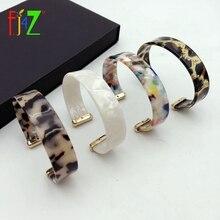 F. J4Z nouveau ZA léopard bracelet Bracelets femmes écaille de tortue acrylique bracelet mode minimalisme résine manchette Bracelets Punk bijoux