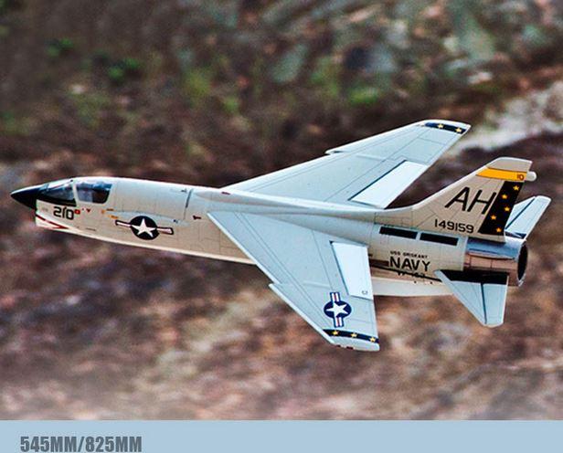 "64mm F-8E crusader ""guerreiro cruzada"" modelo canalizado, modelo de ventilador canalizado, kit, pnp"