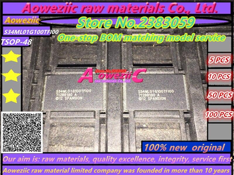 Aoweziic 100% nuevo original S34ML01G100TFI00 TSOP48 chip de memoria S34ML01G100TF100
