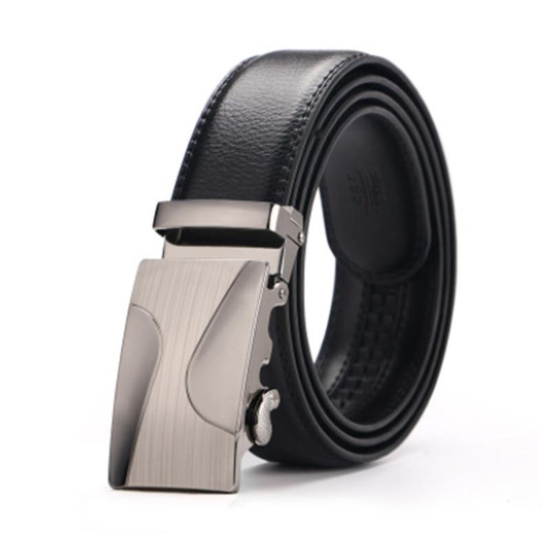Brand Belt Men Top Quality Genuine Luxury Leather Belts for Men,Strap Male Metal Automatic Bucklerousers Belts
