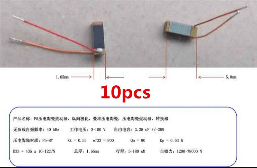 10 stücke für PZT piezoelektrischen keramik antrieb, längs polarisation, stapel piezoelektrischen keramik, piezoelektrischen antrieb