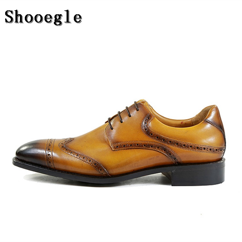 Shoegle-أحذية جلدية أصلية للرجال ، أحذية فاخرة لرجال الأعمال ، أحذية أكسفورد للحفلات وحفلات الزفاف