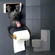 European style bathroom monkey tissue holder Roll holder Toilet paper holder Resin waterproof paper holder wall hanging