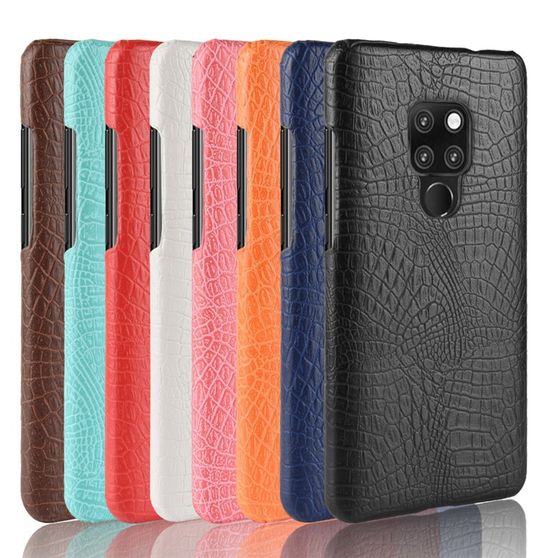 luxury Vintage Crocodile Leather Case For Huawei Mate 20 Lite Shockproof Protective Hard Back Cover