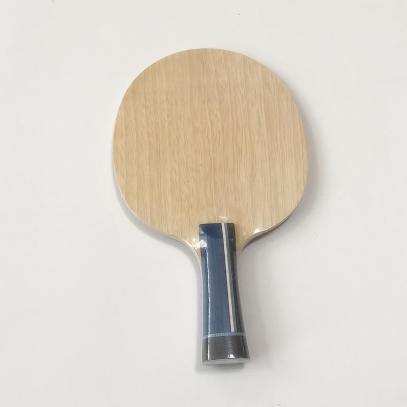 Lemuria, DIY, personalizado, madera de 5 capas plus, tabla de carbono de 2 capas, paleta de tenis de carbono de arilato, pala de ping-pong con mango final, FL o ST